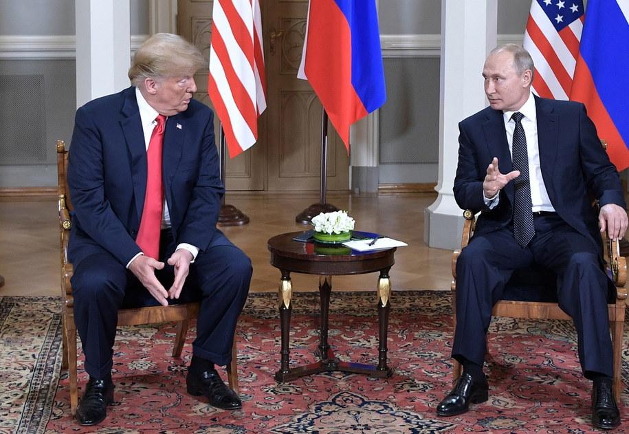 Donald Trump i Władimir Putin podczas spotkania w Helsinkach /ALEXEY NIKOLSKY / SPUTNIK / KREMLIN POOL /PAP/EPA