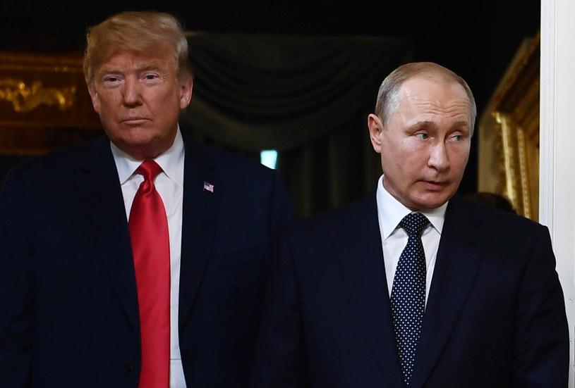 Donald Trump i Władimir Putin /Brendan Smialowski /AFP