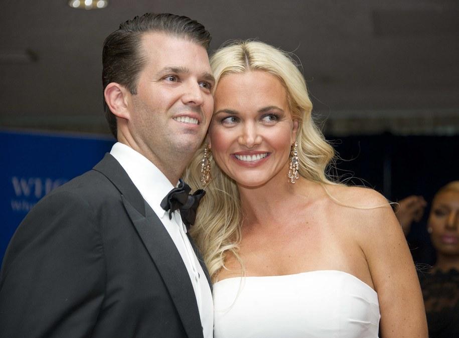 Donald Trump Junior z żoną Vanessą /Newscom/Ron Sachs    /PAP