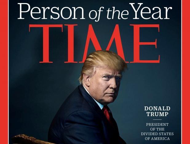 "Donald Trump na okładce ""Time'a"" /INTERIA.PL"