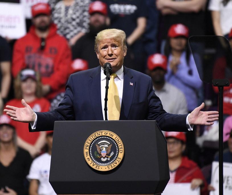 Donald Trump na wiecu wyborczym w Colorado Springs /BOB PEARSON /PAP/EPA