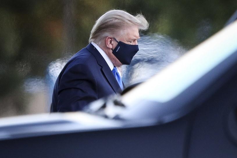 Donald Trump: nie czułem się zbyt dobrze, ale teraz jest dużo lepiej /Oliver Contreras/POOL /PAP/EPA