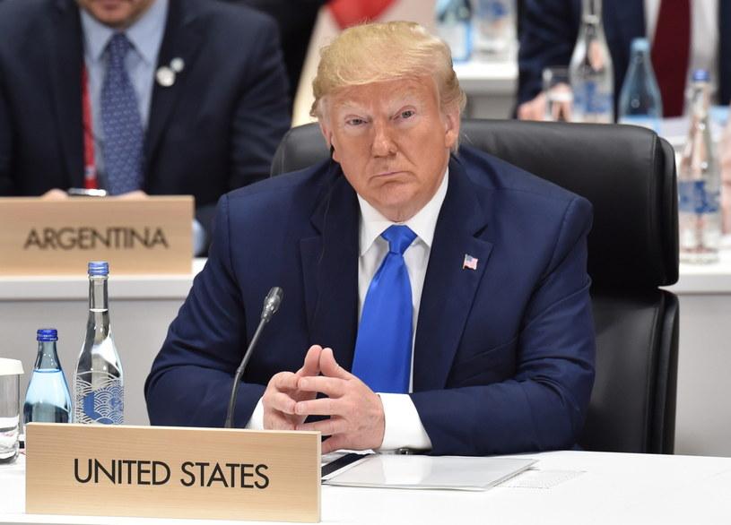 Donald Trump podczas szczytu w Osace /KAZUHIRO NOGI / POOL /PAP/EPA