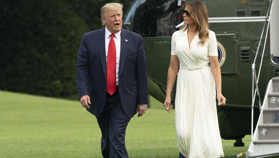 Donald Trump razem z żoną Melanią /EPA/Chris Kleponis / POOL /PAP/EPA