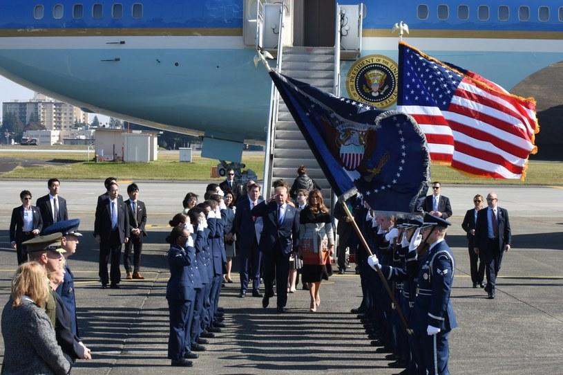 Donald Trump rozpoczął wizytę w Azji /KAZUHIRO NOGI /PAP/EPA