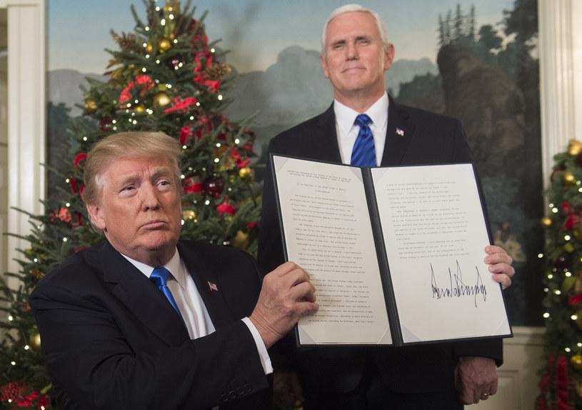 Donald Trump uznał Jerozolimę za stolicę Izraela /SAUL LOEB /AFP