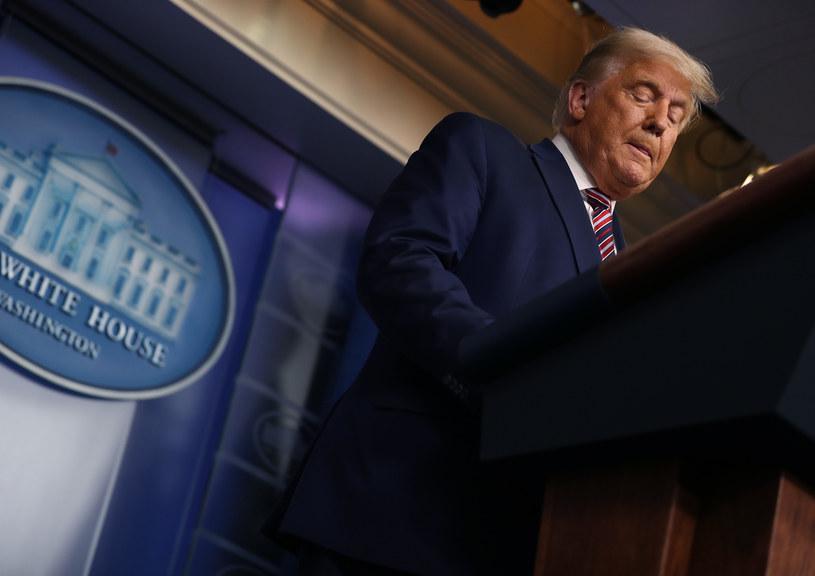 Donald Trump w Białym Domu /AFP