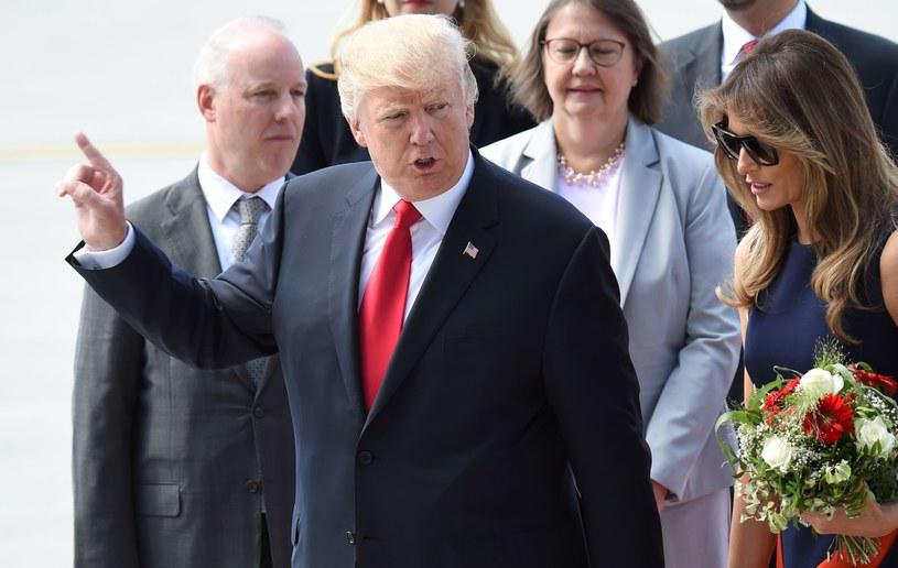 Donald Trump w Warszawie /AFP