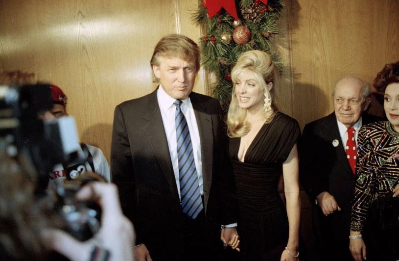 Donald Trump z drugą żoną Marlą Maples /East News