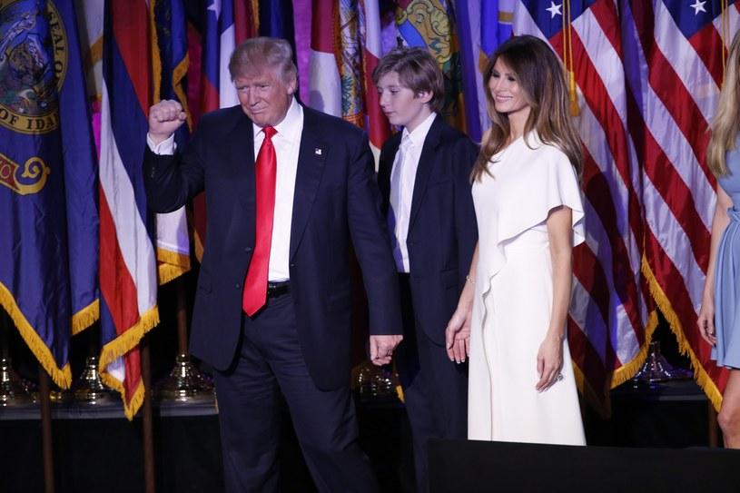 Donald Trump z rodziną /PAP/EPA
