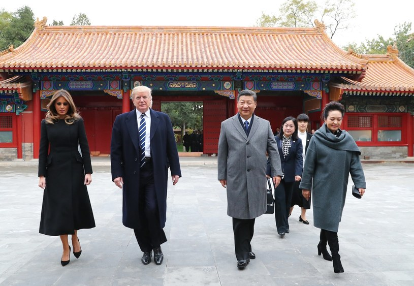 Donald Trump z wizytą w Chinach /AFP