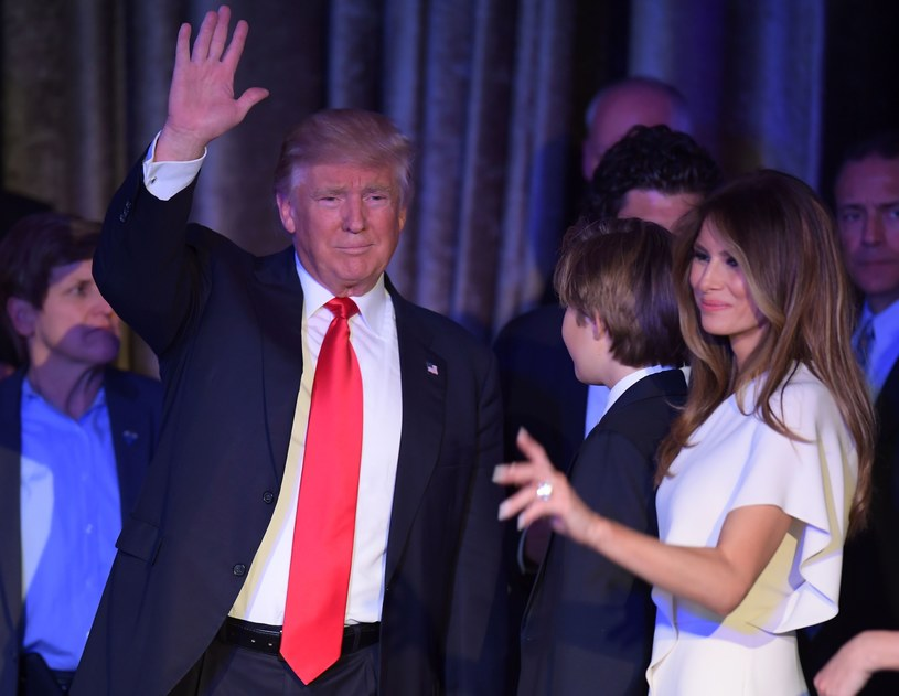 Donald Trump z żoną Melanią /AFP /East News