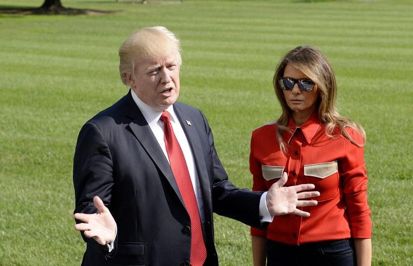 Donald Trump z żoną Melanią /OLIVIER DOULIERY /PAP/EPA