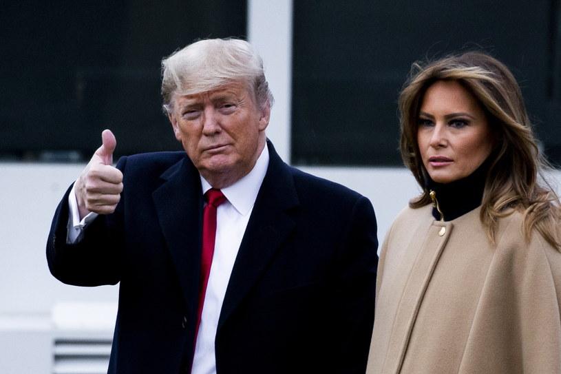 Donald Trump z żoną Melanią /MICHAEL REYNOLDS    /PAP/EPA