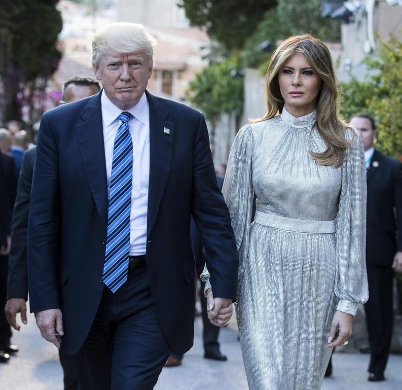 Donald Trump z żona podczas pierwszej zagranicznej wizyty /ANGELO CARCONI /PAP/EPA