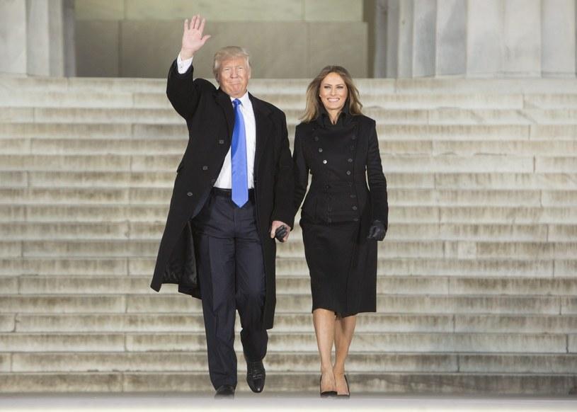 Donald Trump z żoną /PAP/EPA
