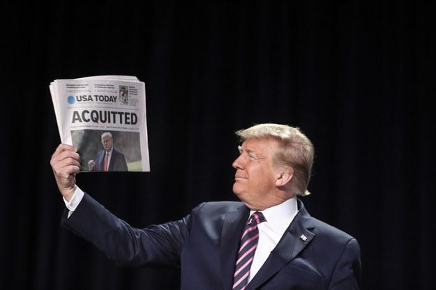 Donald Trump (zdjęcie z 6 lutego 2020) /Oliver Contreras/POOL /PAP/EPA