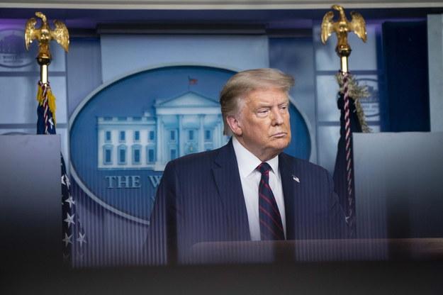 Donald Trump /SARAH SILBIGER / POOL /PAP/EPA