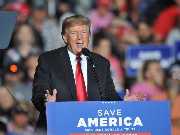 Donald Trump /STEVE POPE /PAP/EPA