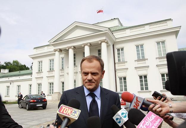 Donald Tusk, fot. Tomasz Gzell /PAP