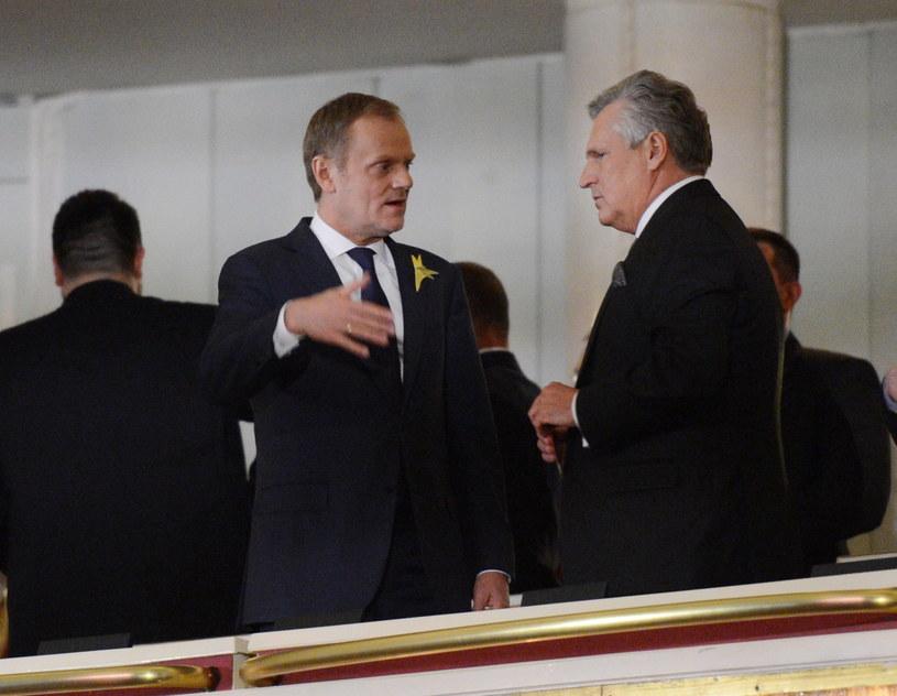 Donald Tusk i Aleksander Kwaśniewski /Jacek Turczyk /PAP