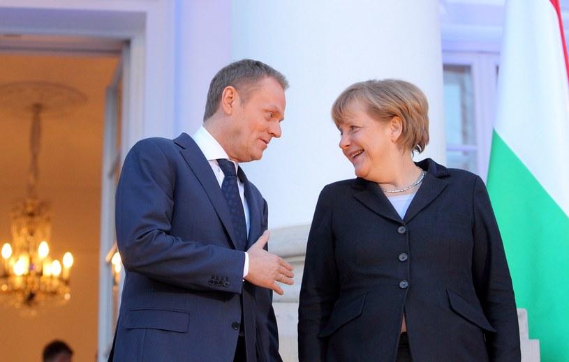 Donald Tusk i Angela Merkel, zdjęcie pochodzi z 2013 roku /Jan Kucharzyk /East News