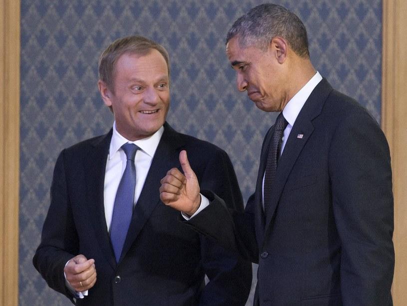 Donald Tusk i Barack Obama /AFP