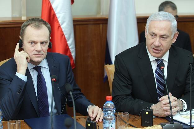 Donald Tusk i Benjamin Netanjahu, fot. Radek Pietruszka /PAP
