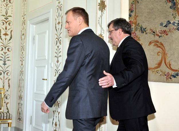 Donald Tusk i Bronisław Komorowski, fot. J. Domiński /Reporter