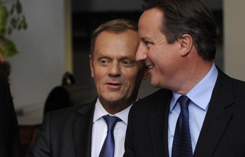 Donald Tusk i David Cameron /AFP