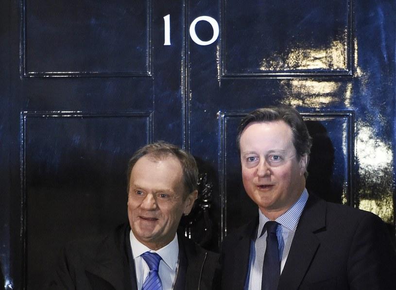 Donald Tusk i David Cameron /FACUNDO ARRIZABALAGA /PAP/EPA