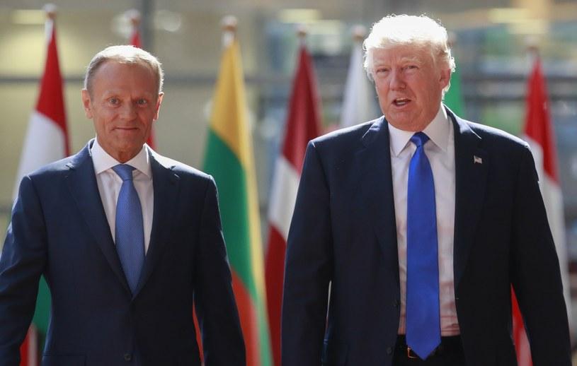 Donald Tusk i Donald Trump /PAP/EPA