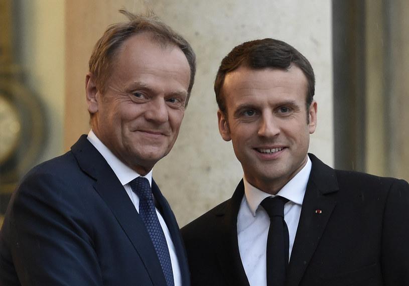 Donald Tusk i Emmanuel Macron o przebudowie Europy i ambitnej polityce /STEPHANE DE SAKUTIN /AFP