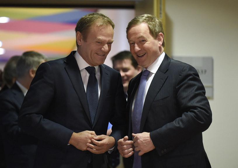 Donald Tusk i Enda Kenny /AFP