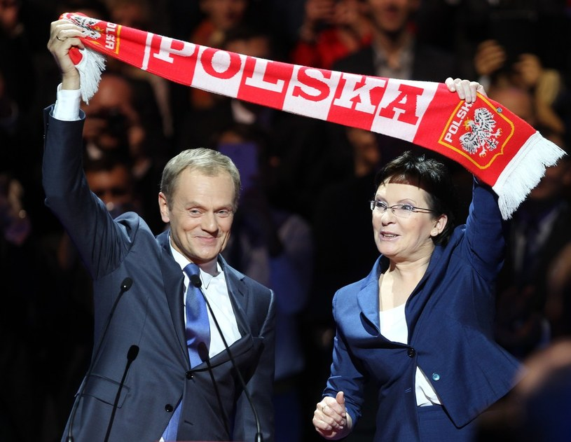 Donald Tusk i Ewa Kopacz /Stanisław Kowalczuk /East News