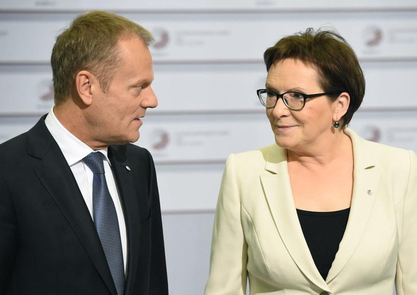 Donald Tusk i Ewa Kopacz /AFP