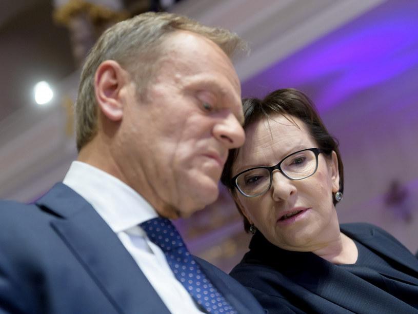 Donald Tusk i Ewa Kopacz /Marcin Kaczmarek /East News