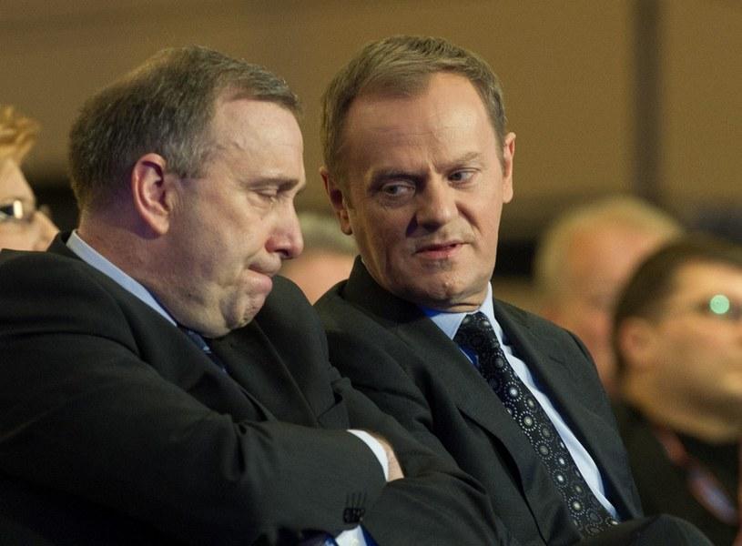 Donald Tusk i Grzegorz Schetyna /Andrzej Iwańczuk /Reporter