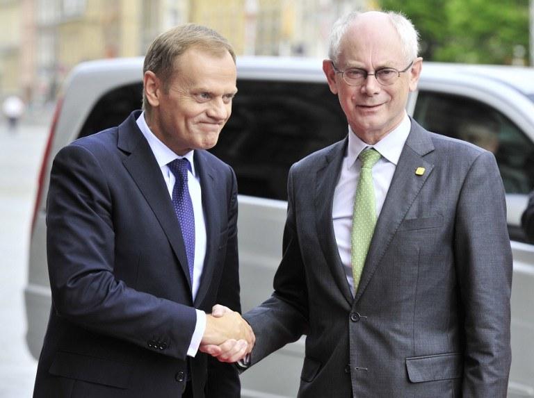 Donald Tusk i Herman van Rompuy /AFP