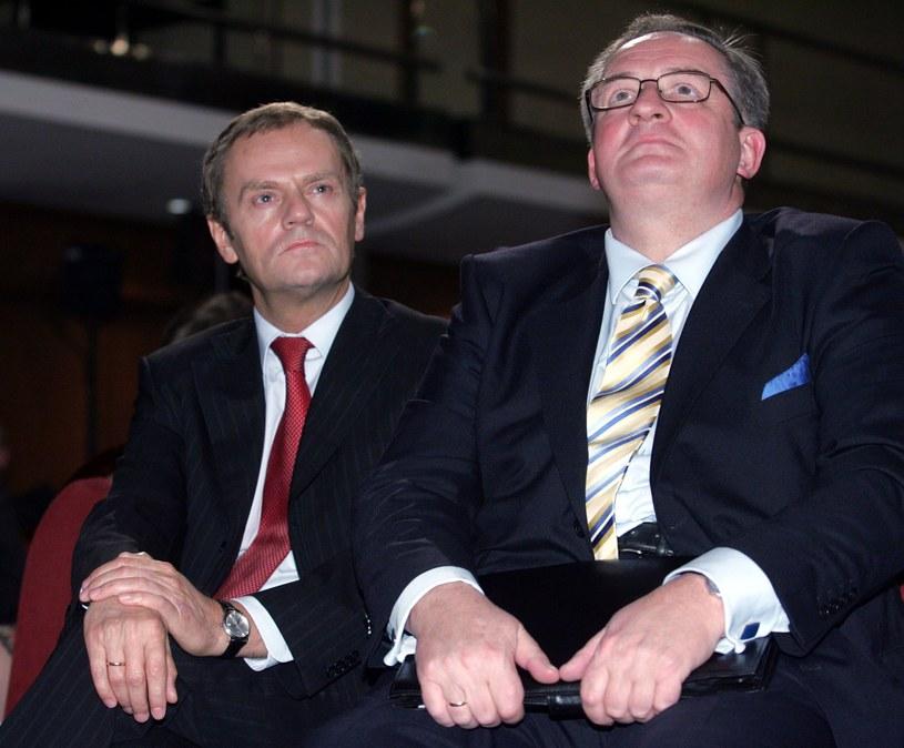 Donald Tusk i Jacek Saryusz-Wolski (2007 rok) /Witold Rozbicki /Reporter