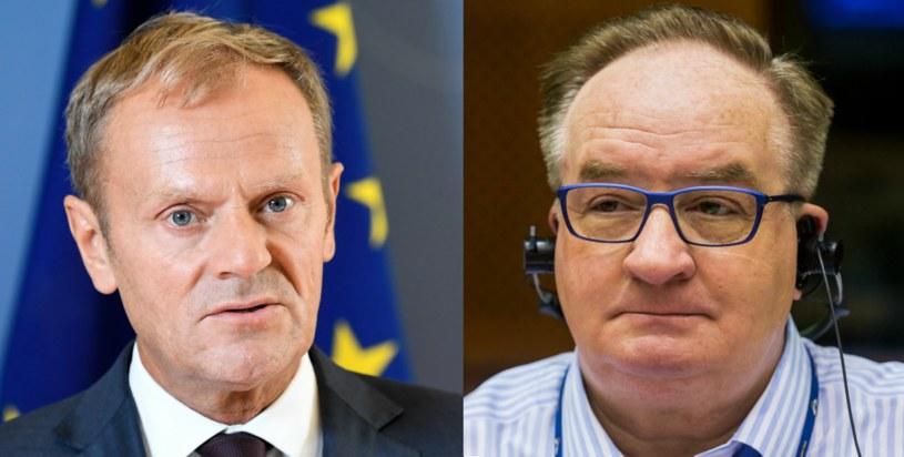 Donald Tusk i Jacek Saryusz-Wolski /AFP/PAP/EPA