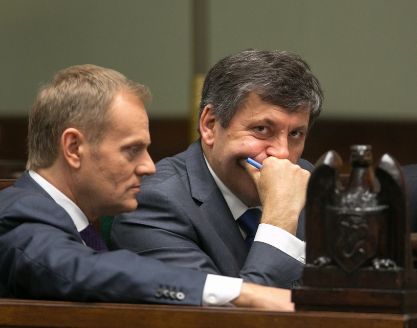 Donald Tusk i Janusz Piechociński /Andrzej Iwańczuk /Reporter