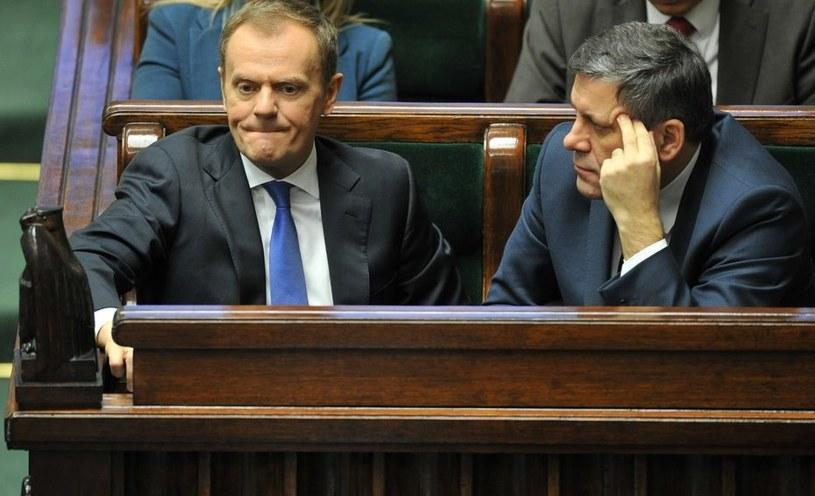 Donald Tusk i Janusz Piechociński /Piotr Bławicki /East News