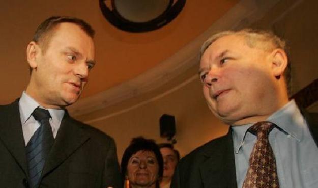 Donald Tusk i Jarosław Kaczyński /Reporter