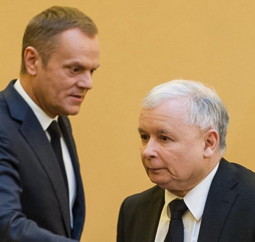 Donald Tusk i Jarosław Kaczyński /Bartosz Krupa /East News