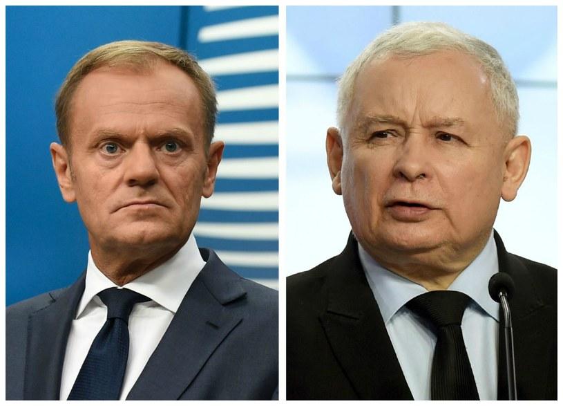 Donald Tusk i Jarosław Kaczyński /AFP