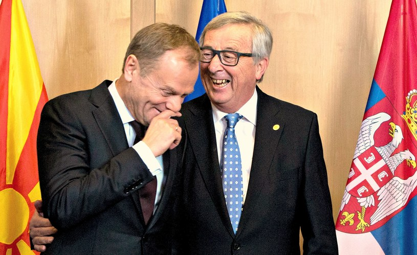 Donald Tusk i Jean Claude Juncker /AFP