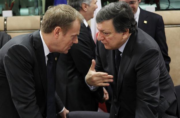 Donald Tusk i Jose Barroso /AFP