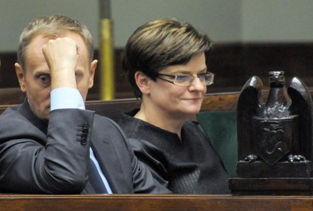 Donald Tusk i Krystyna Szumilas / fot. A. Hrechorowicz /PAP