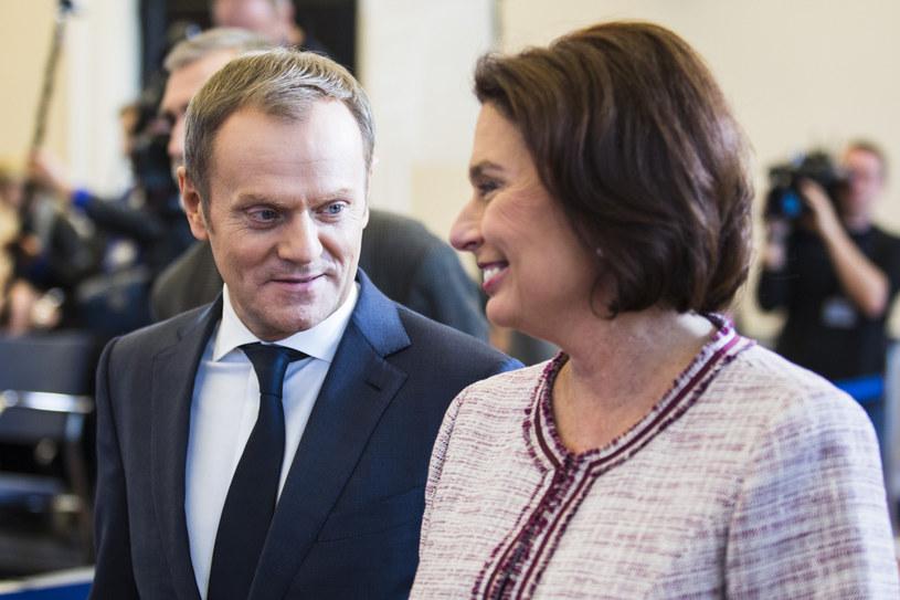 Donald Tusk i Małgorzata Kidawa-Błońska /Andrzej Hulimka/Reporter /East News